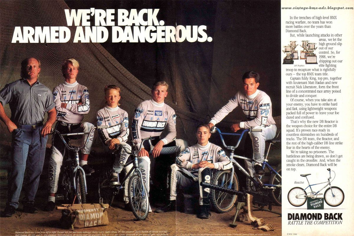 The Totally Rad Fad of 1980's BMX diamond back