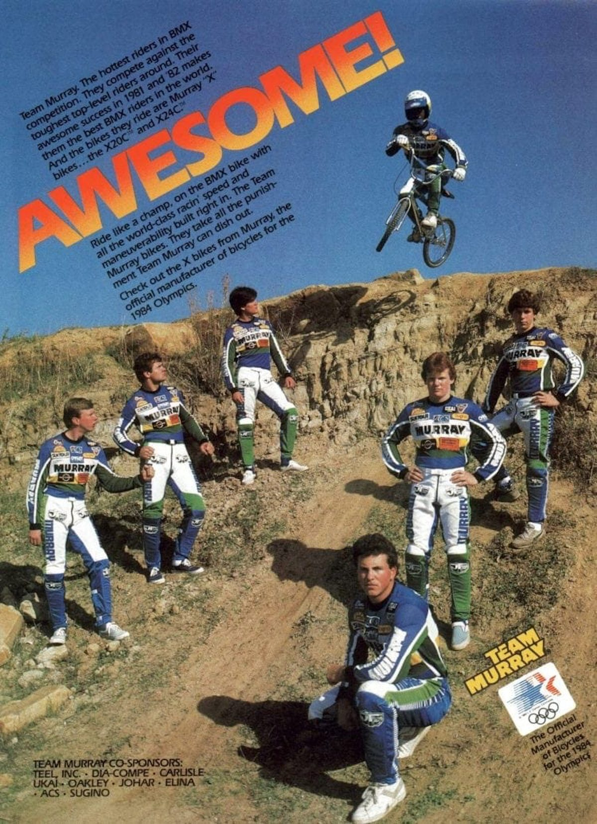 The Totally Rad Fad of 1980's BMX team murray