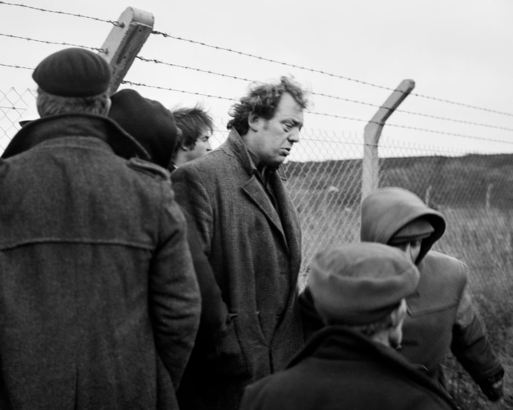 Brian at the disputed fence, Lynemouth, Northumberland, 1984 Photograph- Photograph by Chris Killip
