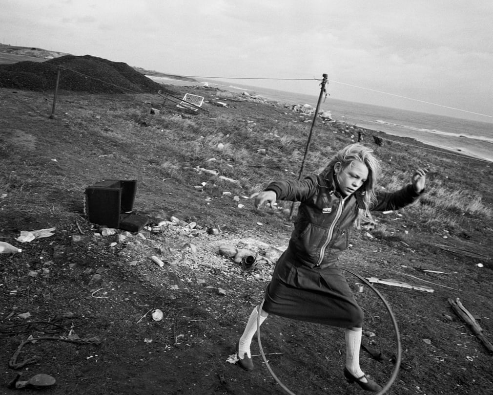 Helen and her hula-hoop, Lynemouth, Northumberland, 1984 Photograph- Photograph by Chris Killip