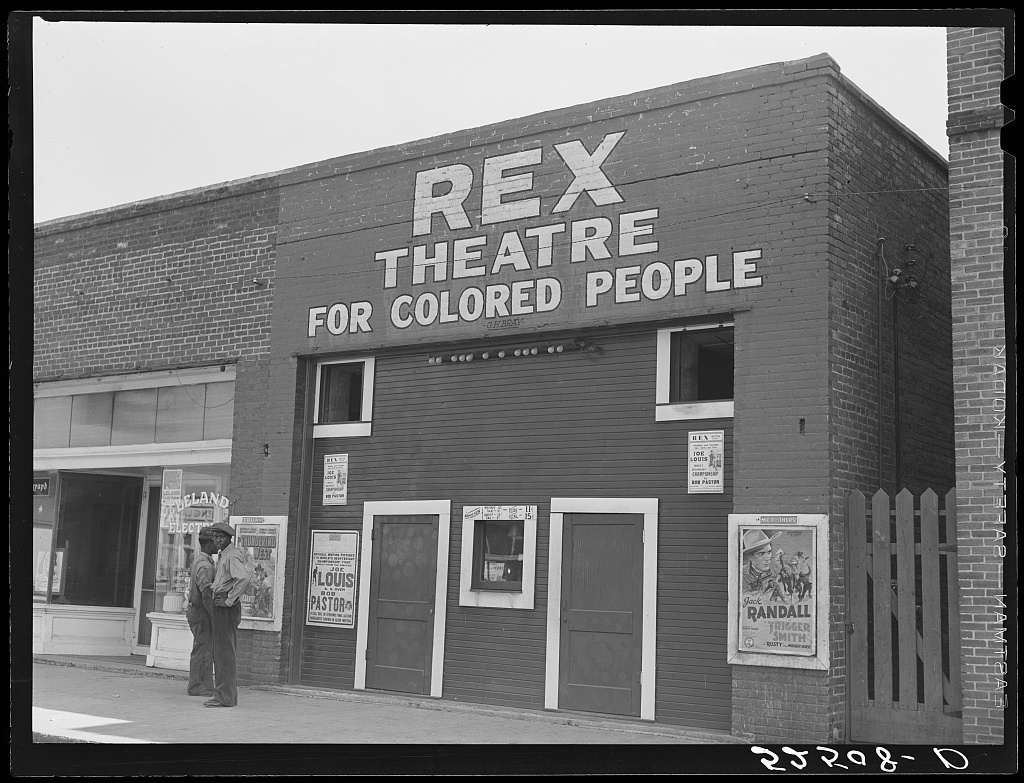 Rex Theatre for colored people. Leland, Mississippi Delta Contributor Names Wolcott, Marion Post, 1910-1990, photographer Created / Published 1939 Nov.