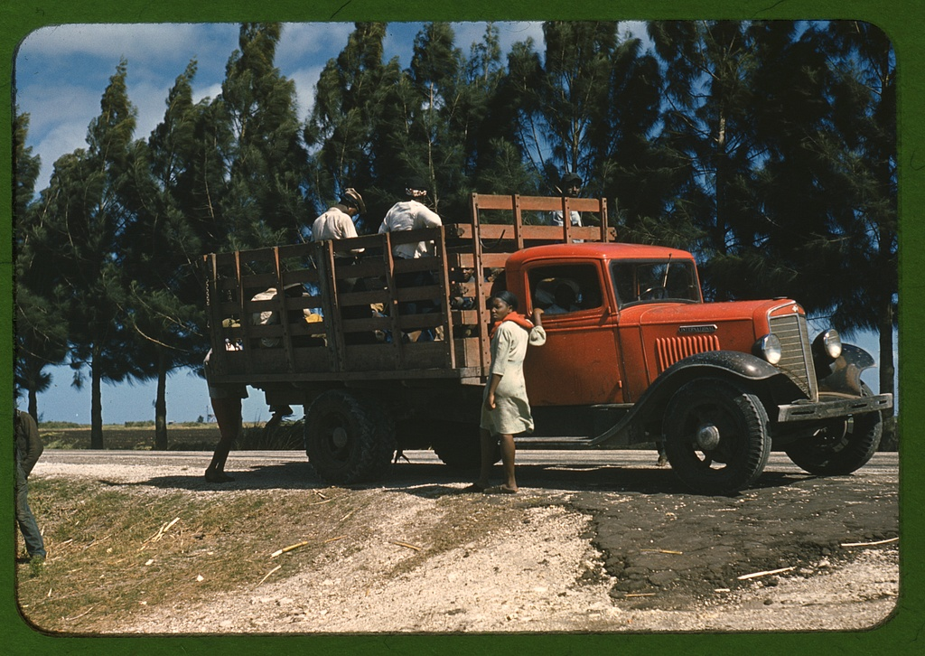 Summary Photograph shows a 1934-1936 International C30 truck transporting people who might be farm workers. (Source: Flickr Commons project, 2009) Contributor Names Wolcott, Marion Post, 1910-1990, photographer Created / Published ca. 1940