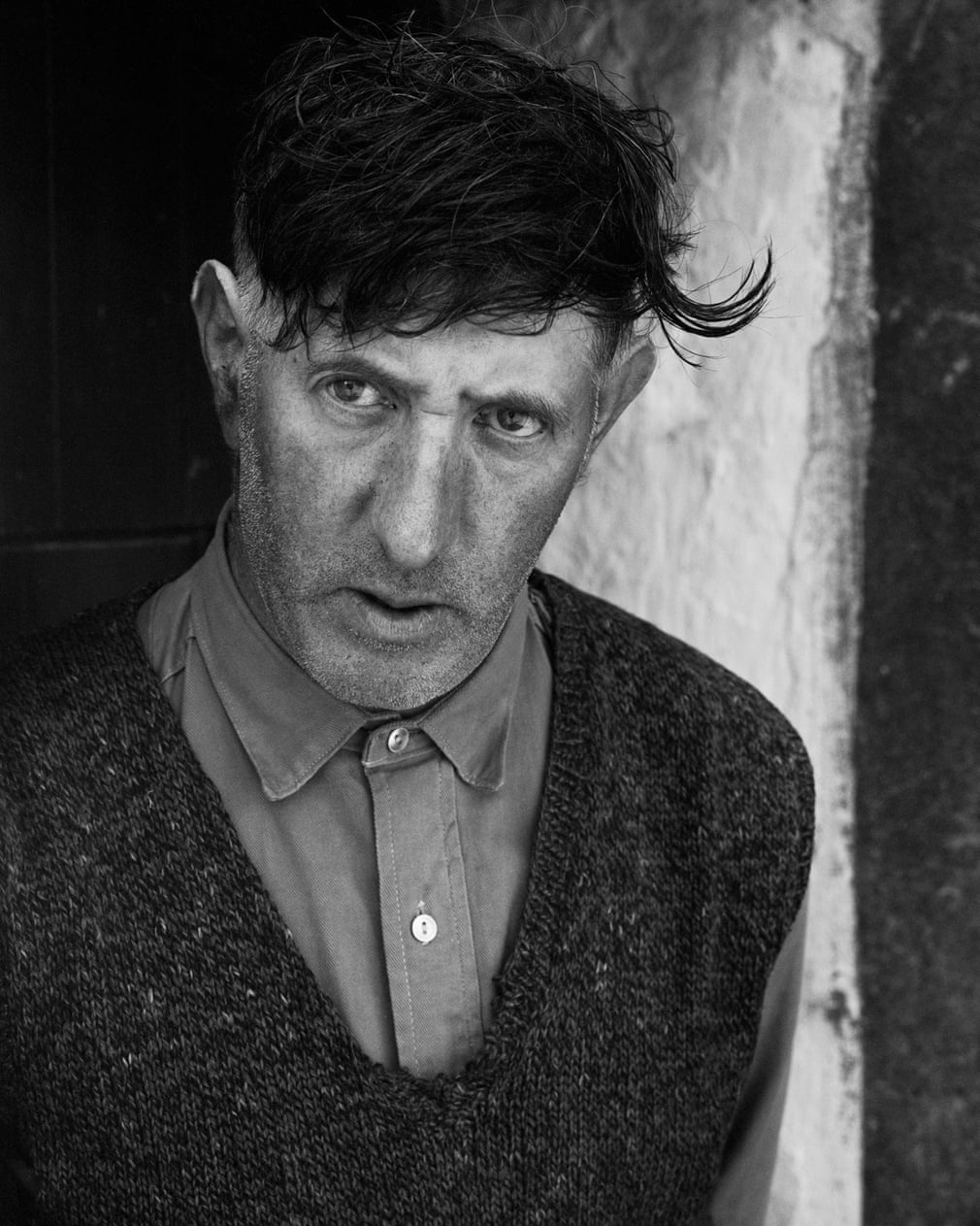 Mr. Johnny Moore, Ballalonna, Isle of Man, 1971 Photograph- Photograph by Chris Killip