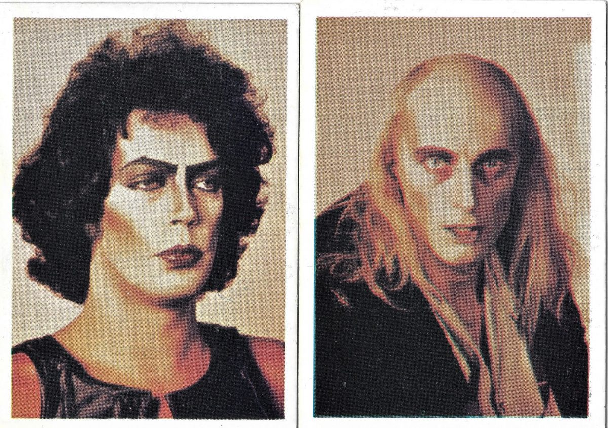 Rocky Horror Picture Show, Tim Curry, Richard O'Brien, film, cardsb
