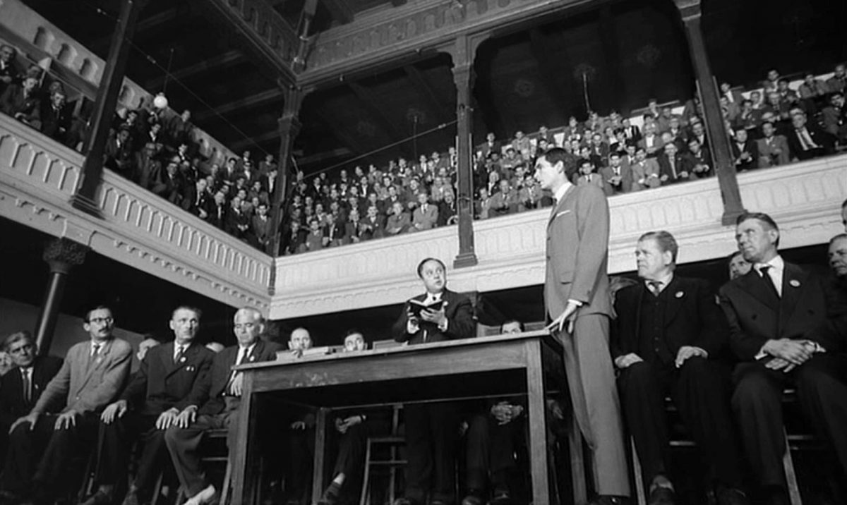 Anthony Perkins, Orson Welles, The Trial, film, 1960s, Franz Kafka
