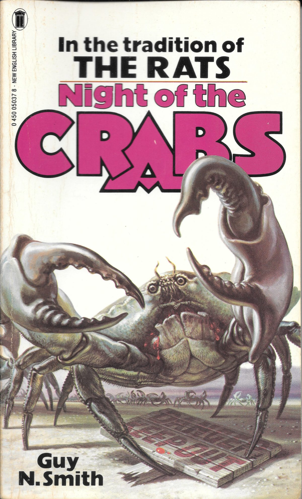 Guy N Smith, horror fictions, horror, books, Night of the Crabs