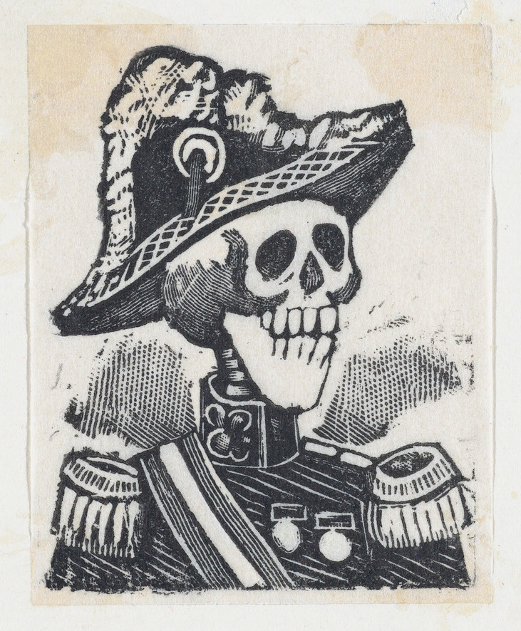 A skeleton dressed as a military figure (vignette for the feast of the dead) ca. 1890–1910 José Guadalupe Posada