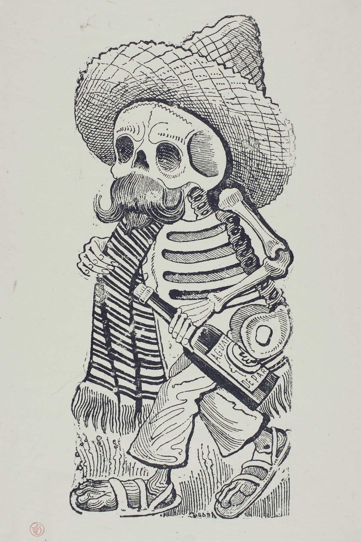 Calavera of Francisco Madero by Jos' Guadalupe Posada. Buy here.