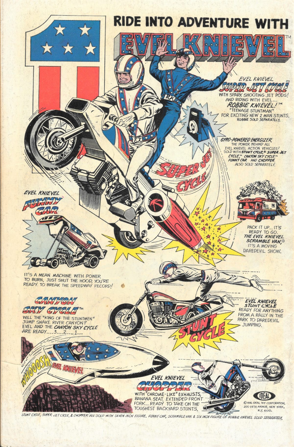 adverts, American, comics, 1960s, 1970s, Evel KnievelSea Monkeys, X-Ray Specs, comic book ads Harold von Braunhut