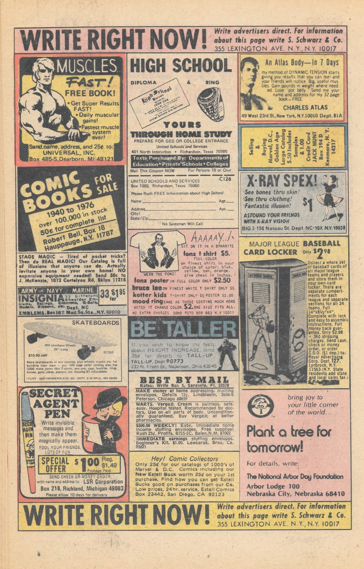 adverts, American, comics, 1960s, 1970s, Sea Monkeys, X-Ray Specs, comic book ads Harold von Braunhut