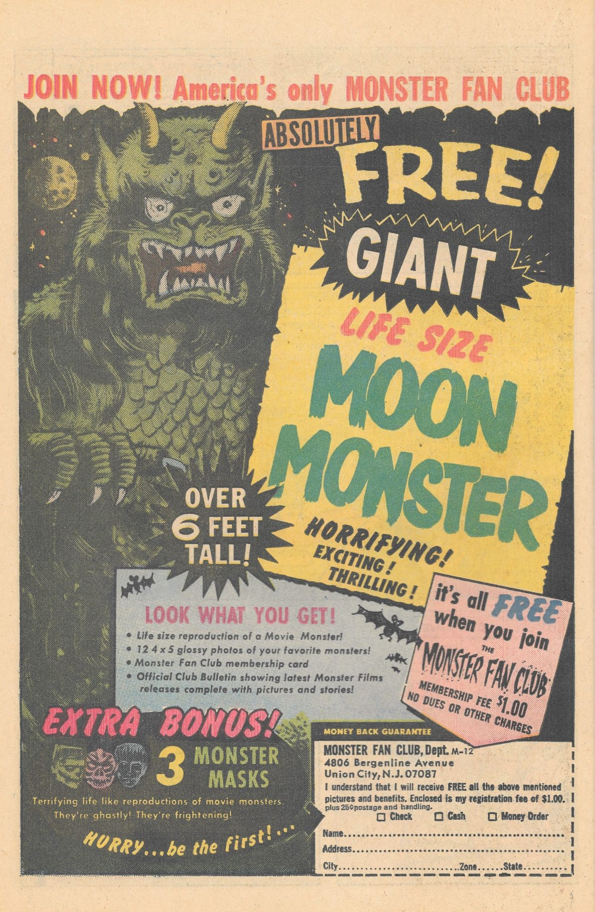 adverts, American, comics, 1960s, 1970s, monster Sea Monkeys, X-Ray Specs, comic book ads Harold von Braunhut