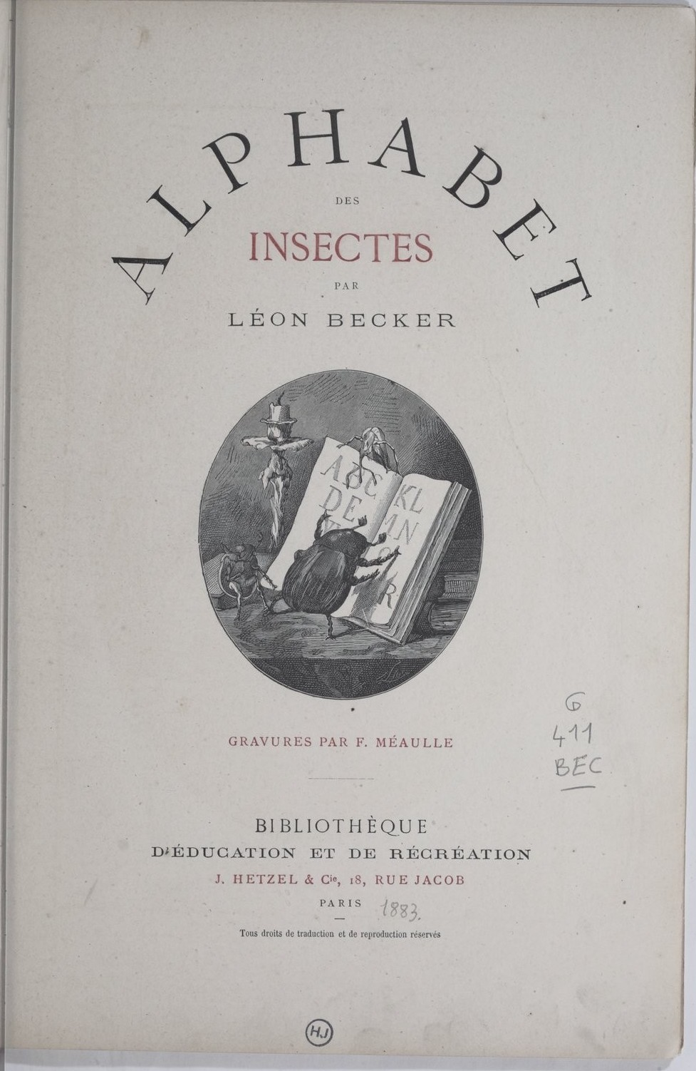 The Insect Alphabet 1883