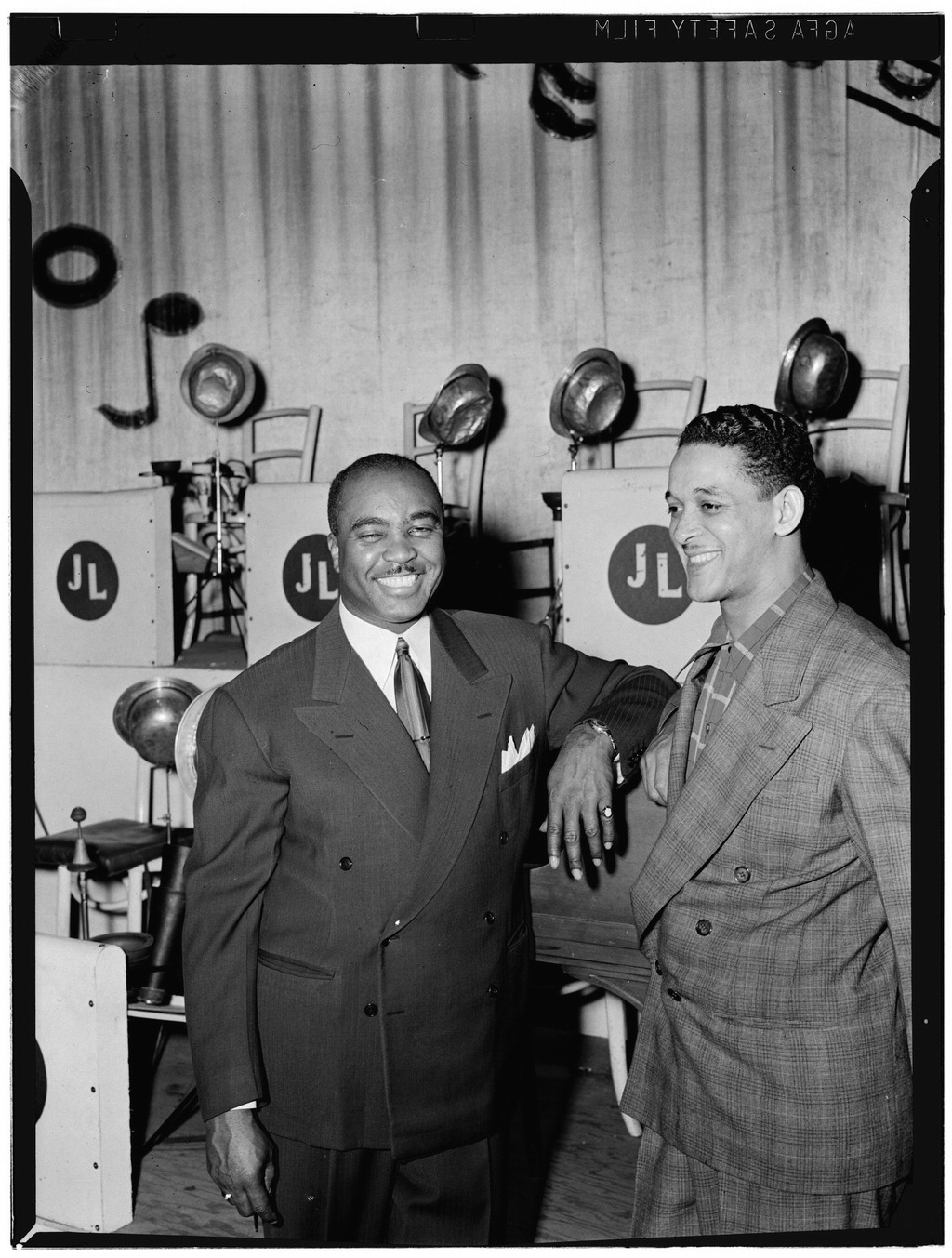 Trummy Young (right) and Jimmie Lunceford, early 1940s. Photograph by William P. Gottlieb.