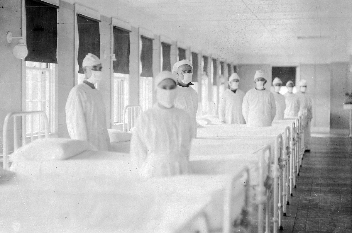 U.S. Navy hospital, in Mare Island, California, on December 10, 1918