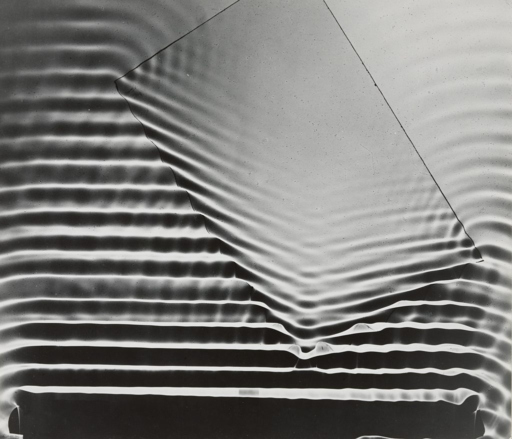 'Wave Pattern with Glass Plate, Massachusetts Institute of Technology' 1958-61