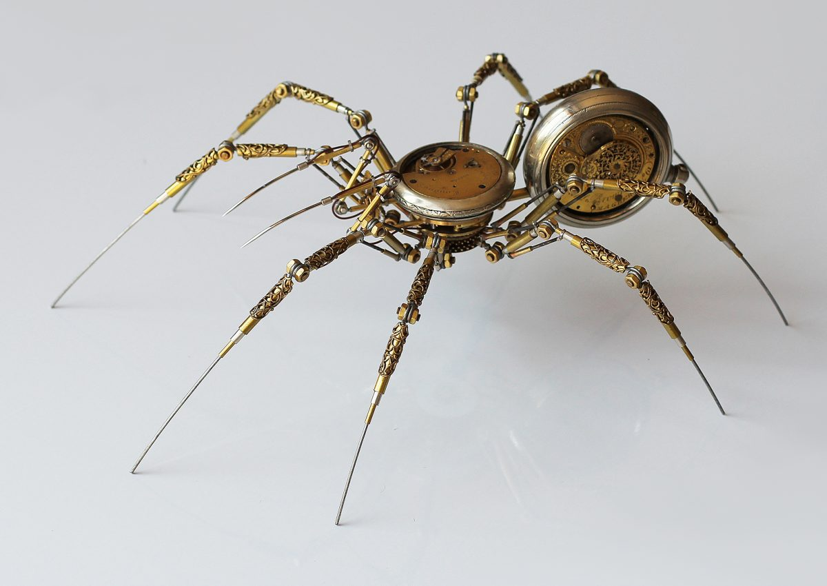 Peter Szucsy steampunk spiders antique parts