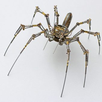 Artist Recycles Antique Tech Into Intricate Steampunk Spiders
