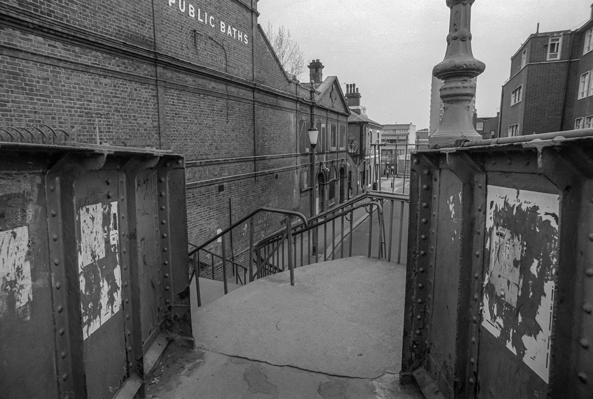 Footbridge and Public Baths, North Kensington, Kensington & Chelsea. 1984