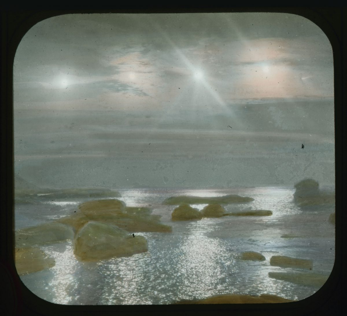 Four suns at thirty minutes each over Nerky [Neqe] Greenland image 1913-1917