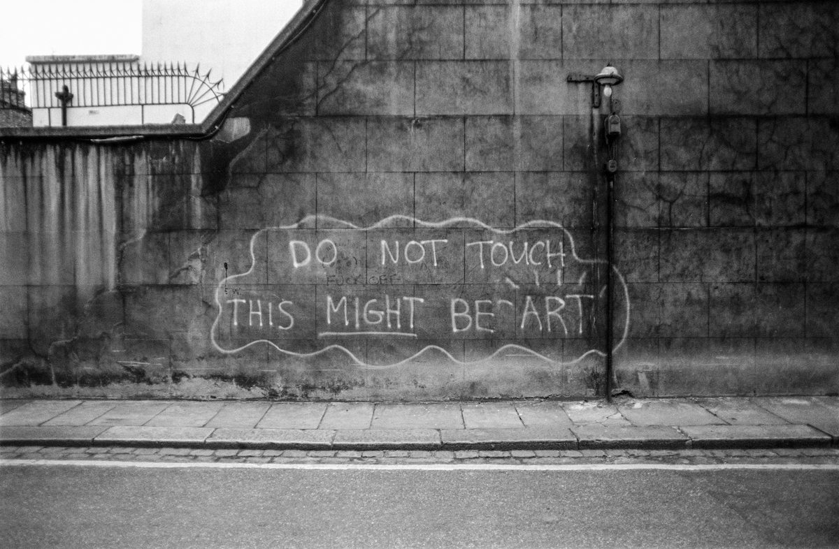 Graffiti, art, South Kensington, Kensington & Chelsea, 1988