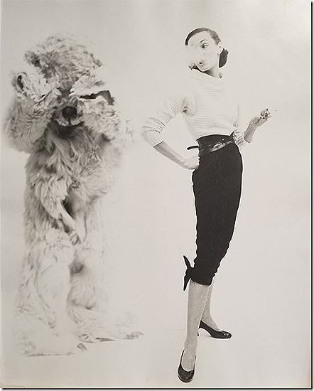 Model and Bear for LOOK, 1950