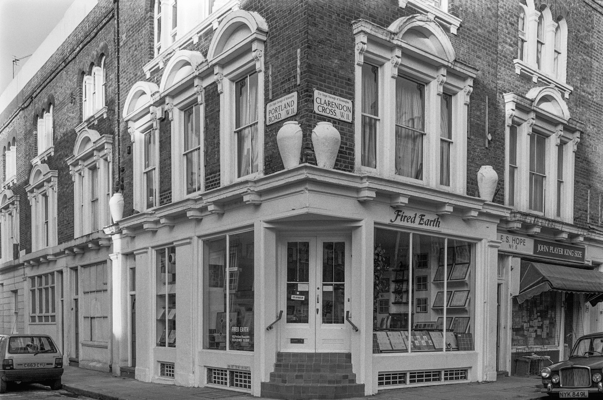 Shop, Portland Rd, Clarendon Cross, Notting Hill, Kensington & Chelsea, 1988 London