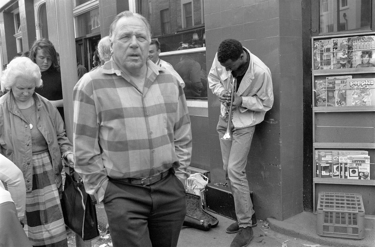 Street Musician, Portobello Rd, Notting Hill, Kensington & Chelsea, 1987 London