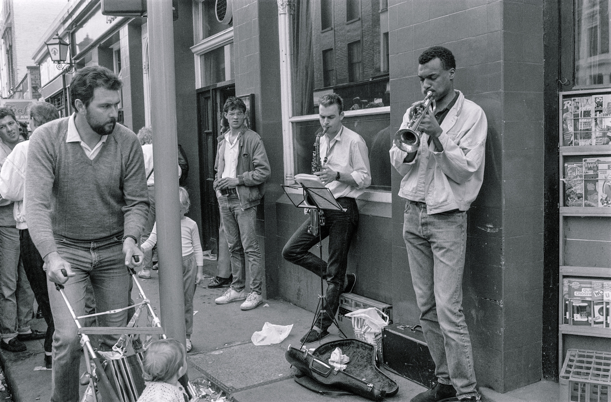 Street Musicians, Portobello Rd, Notting Hill, Kensington & Chelsea, 1987 London