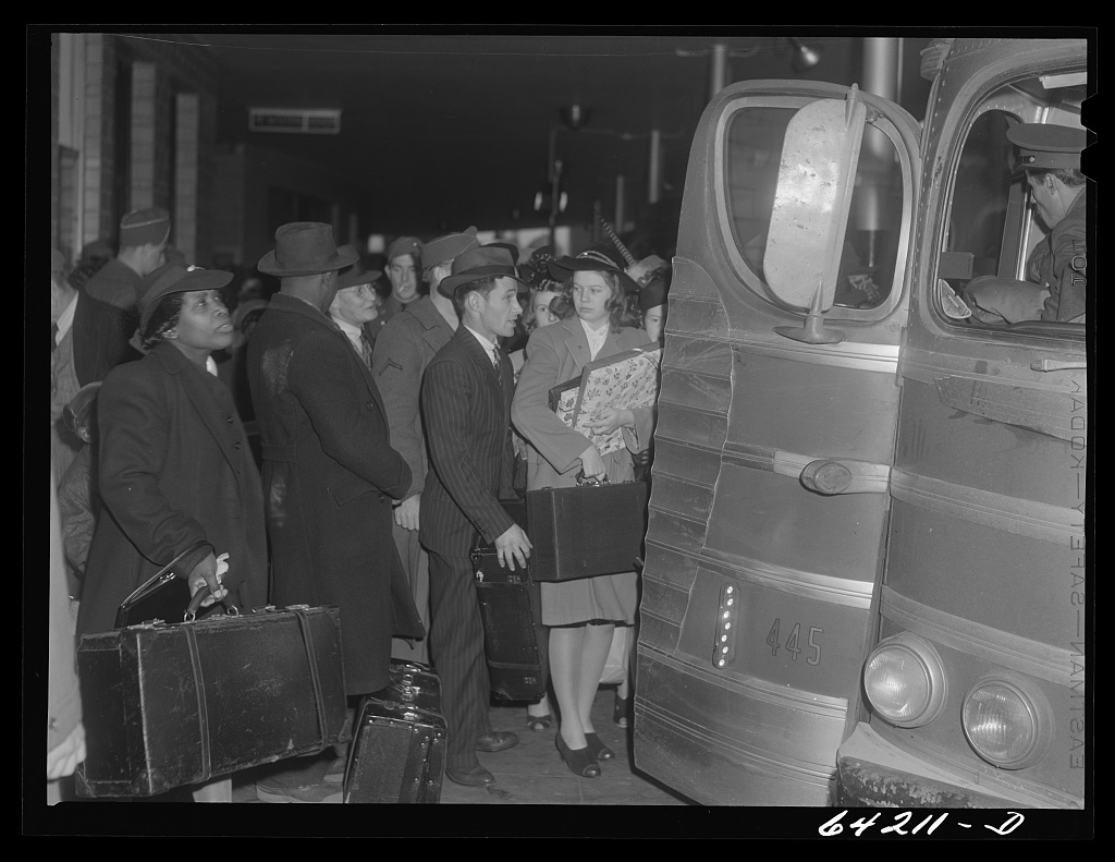Washington, D.C. Greyhound bus terminal on day before Christmas. Waiting for bus to Richmond Contributor Names Vachon, John, 1914-1975, photographer john vachon