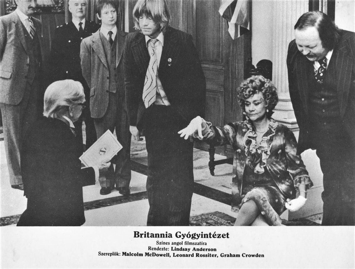 Britannia Hospital, Lindsay Anderson, film, poster, Malcolm McDowell, Robin Askwith