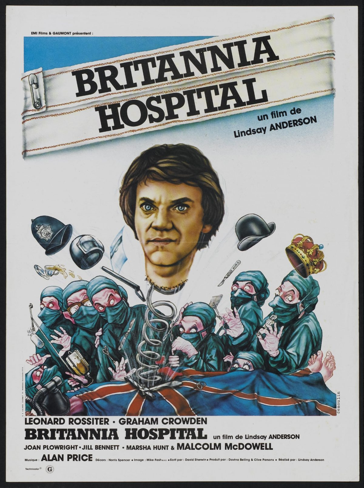 Britannia Hospital, Lindsay Anderson, film, poster, Malcolm McDowell