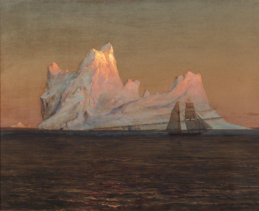 Frederic Edwin Church, Drawing, Floating Iceberg, June or July 1859 Brush and oil, graphite on paperboard, 18.8 x 37.5 cm (7 3/8 x 14 3/4 in.) Cooper Hewitt Smithsonian Design Museum