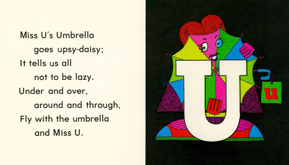 Psychedelic LETTER PEOPLE 1968