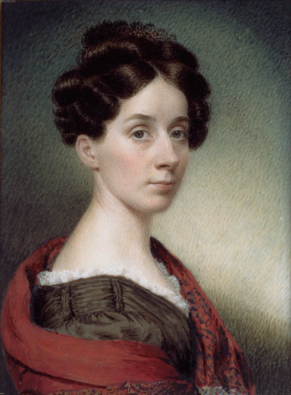 Sarah Goodridge, the artist, in 1830.