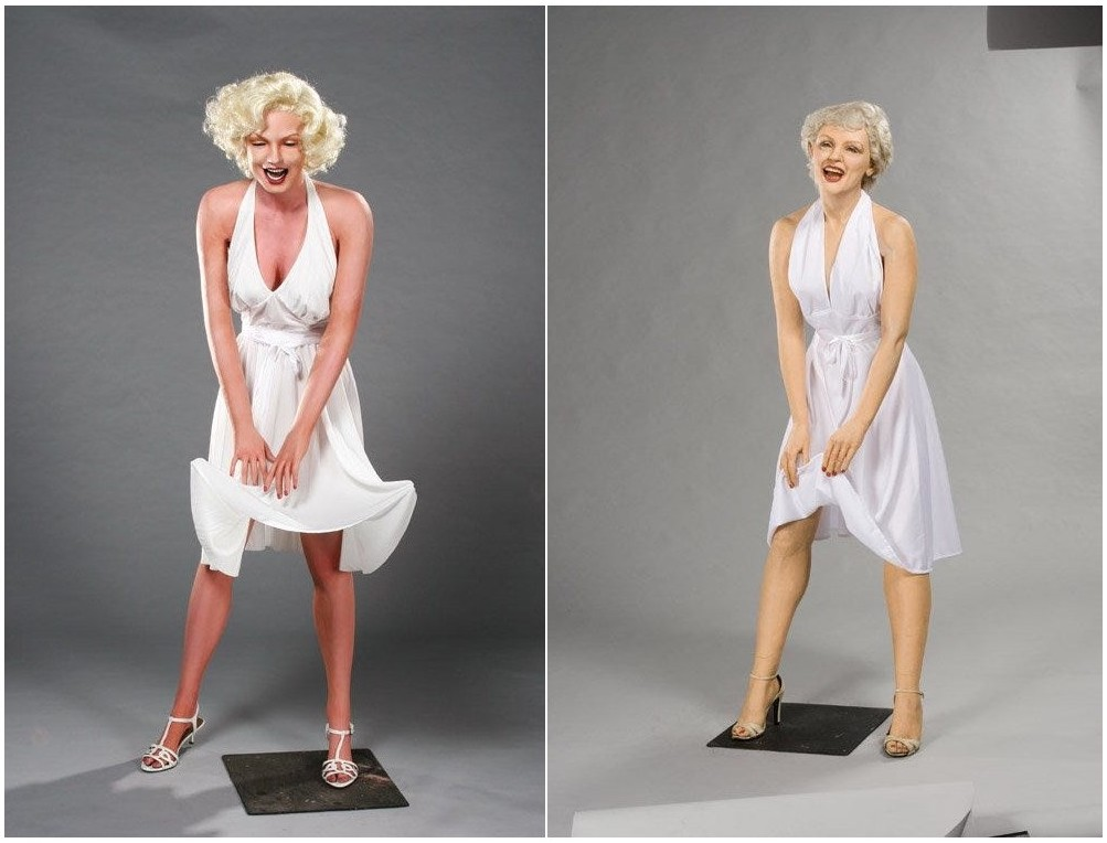 Marilyn Monroe wax figure from The Seven Year Itch