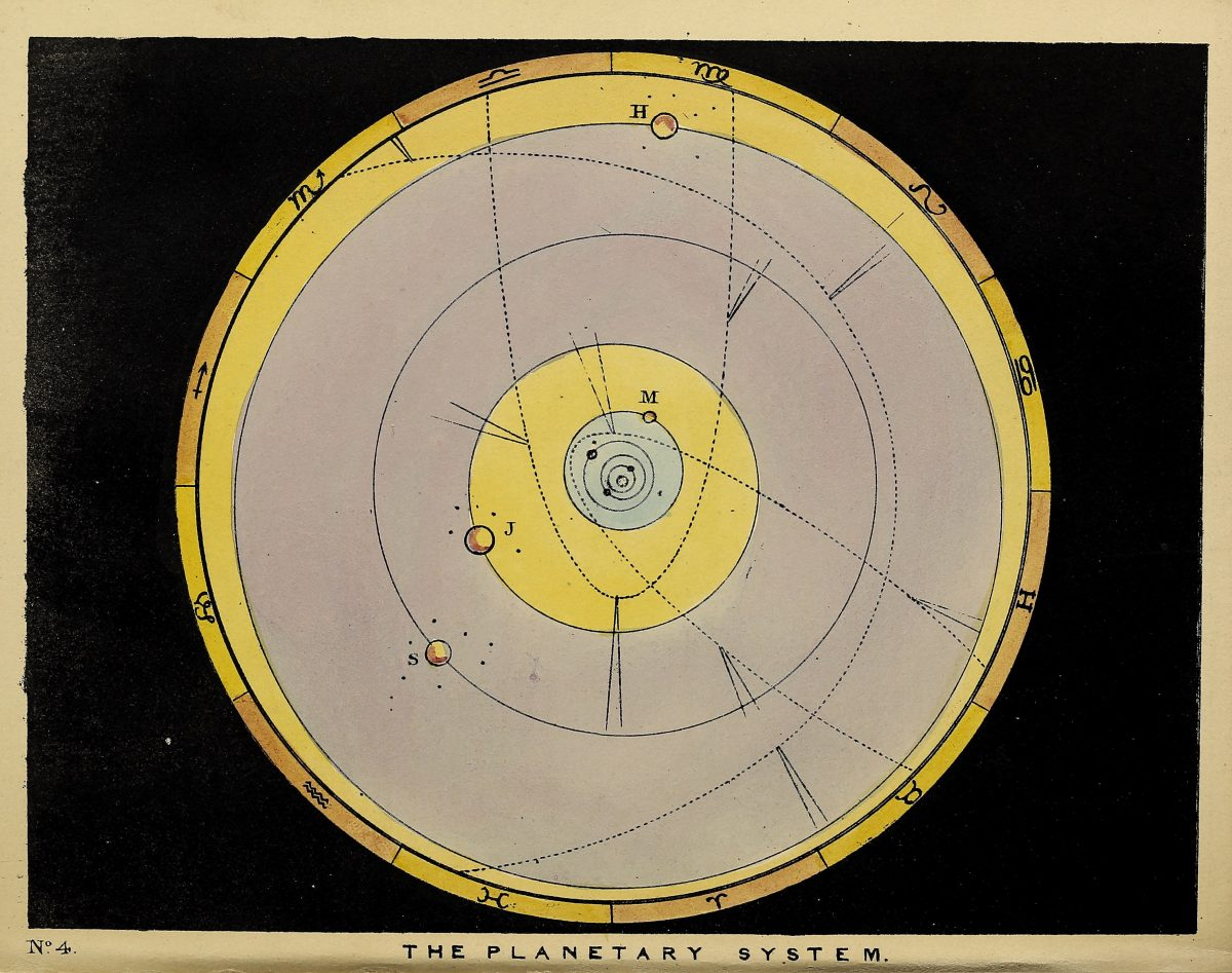 The beauty of the heavens : a pictorial display of the astronomical phenomena of the universe : one hundred and four coloured scenes, illustrating a familiar lecture on astronomyby Blunt, Charles F-92