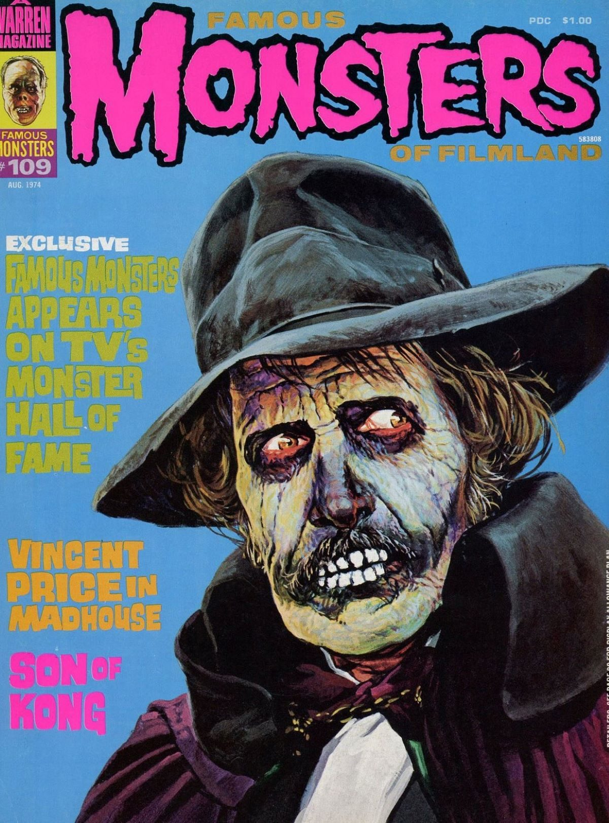 Famous Monsters of Filmland, magazine, horror films, Vincent Price, Madhouse, 1970s