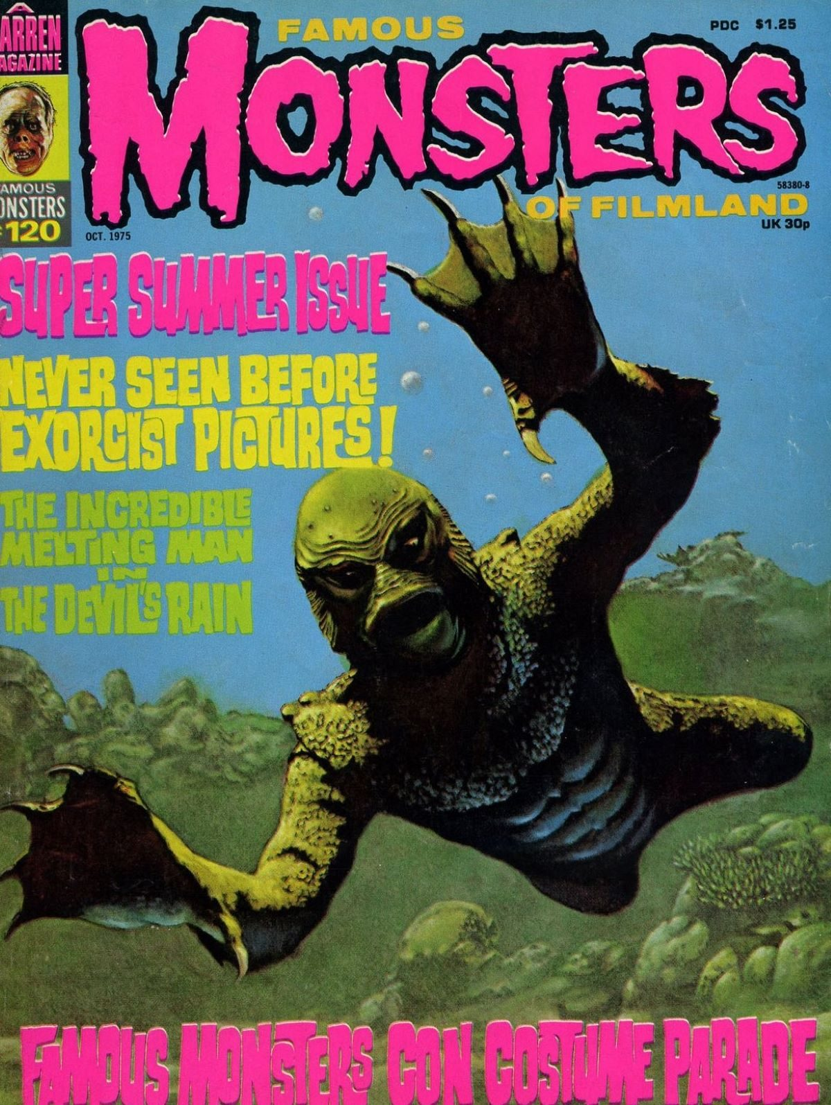 Famous Monsters of Filmland, magazine, horror films, Creature from the Black Lagoon, 1970s