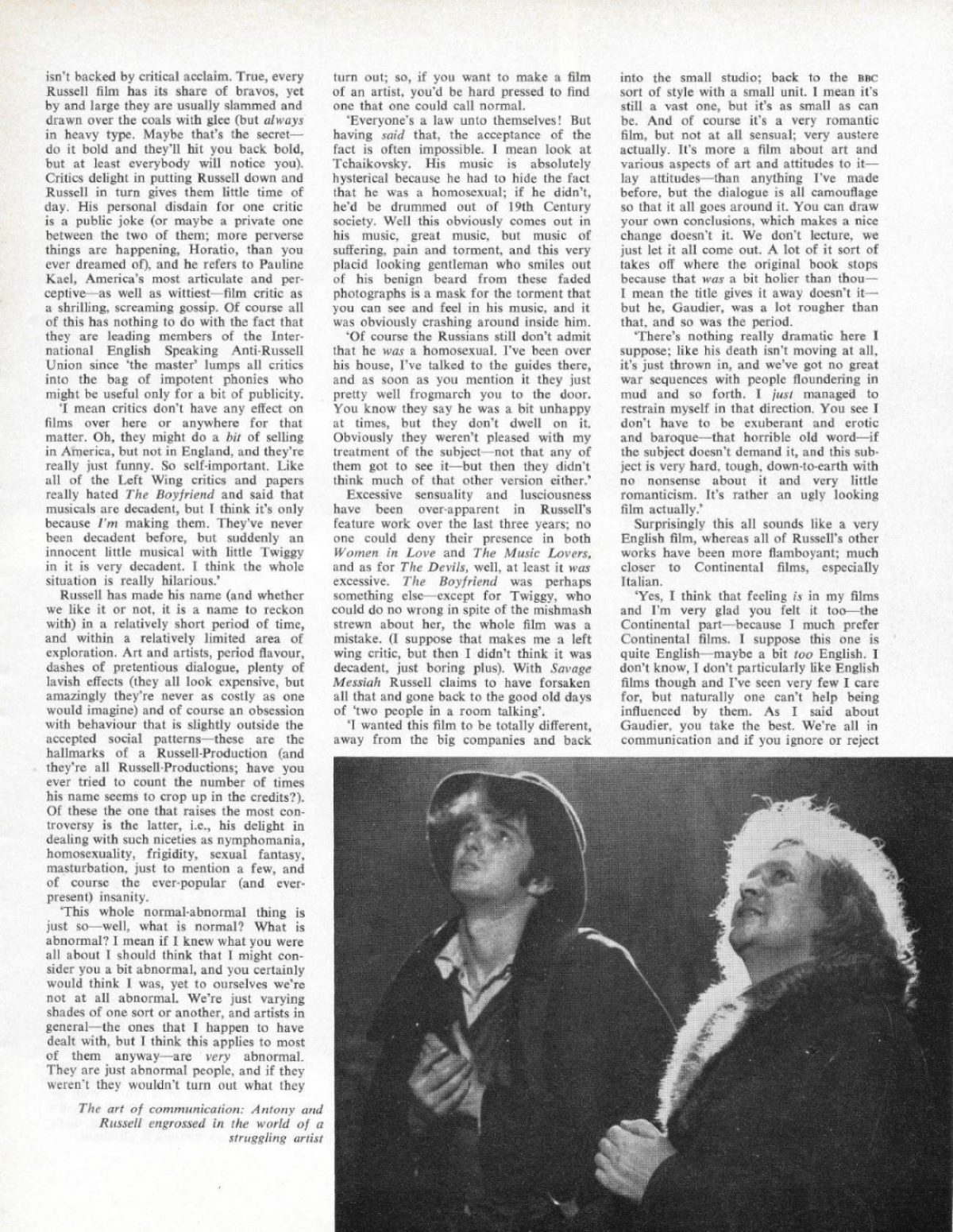 Ken Russell, Films and Filming, Scott Anthony, Dorothy Tutin, film, art, book, H S Ede