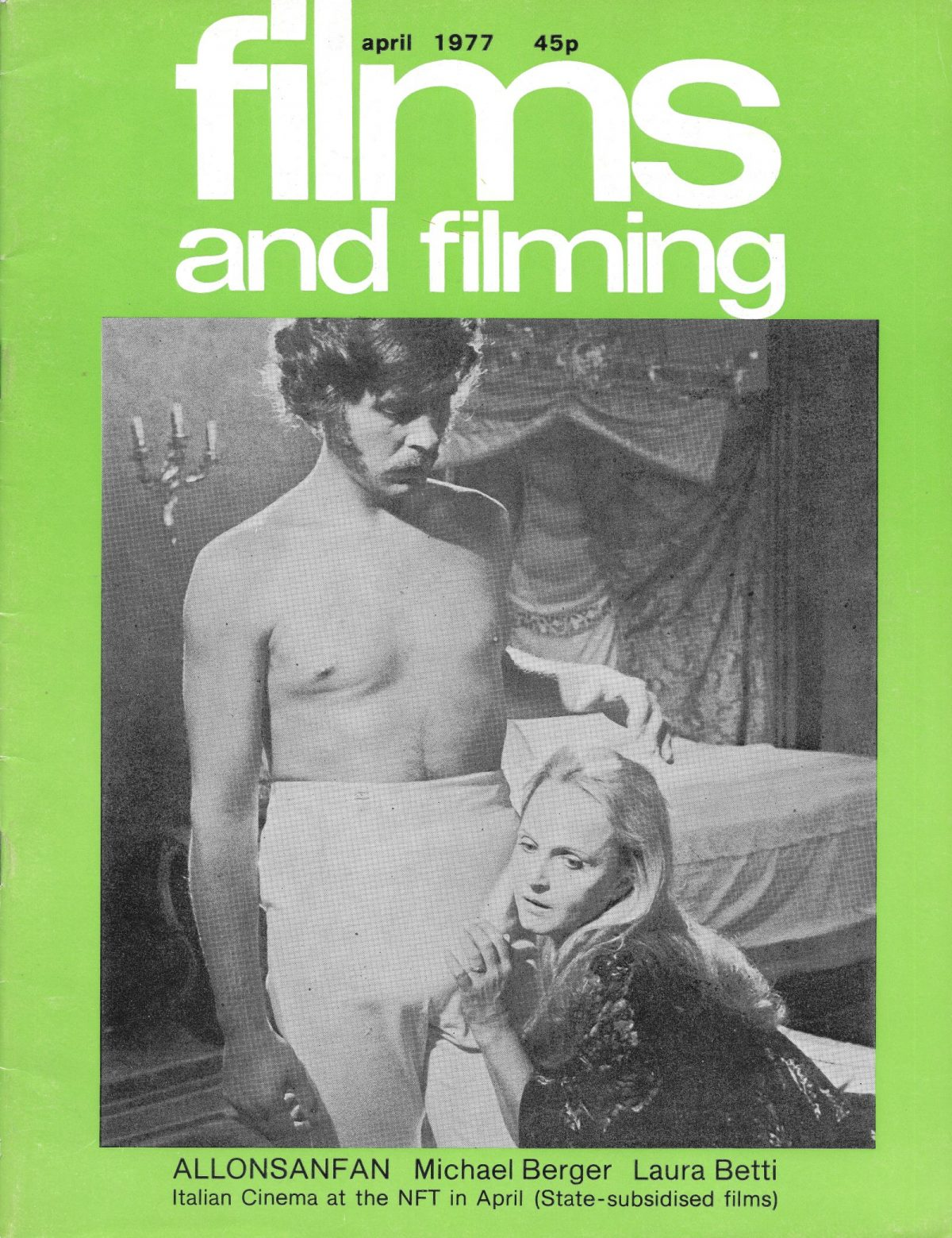 Films & Filming, film, magazines, European Cinema, 1970s