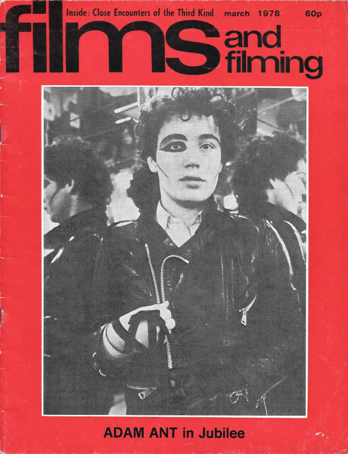 Films & Filming, film, magazines, Derek Jarman, Jubilee, punk, Adam Ant, 1970s