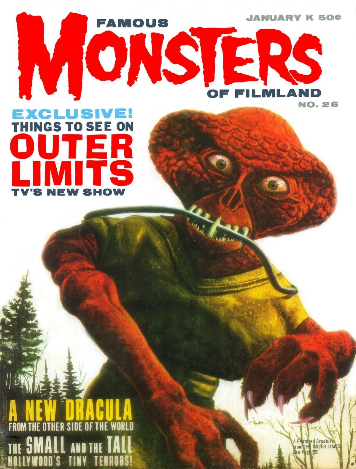 Famous Monsters of Filmland, magazine, horror films, The Outer Limits, 1960s