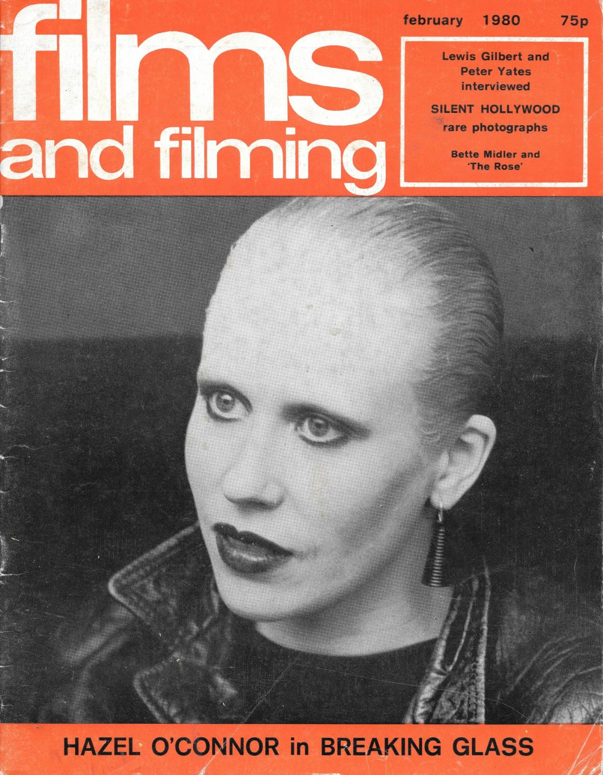 Films & Filming, film, magazines, Hazel O'Connor, Broken Glass, 1980s