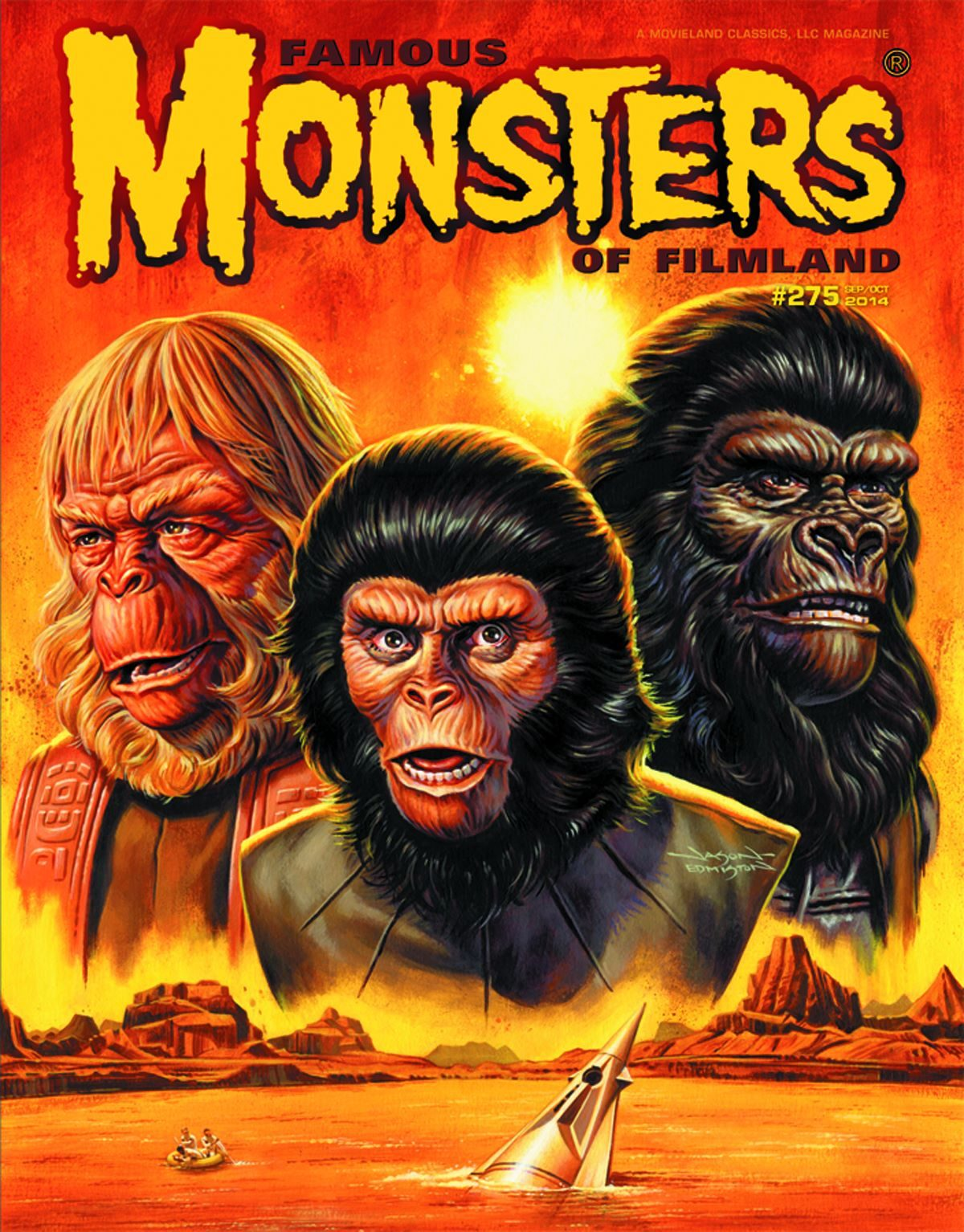 Famous Monsters of Filmland, magazine, horror films, Planet of the Apes