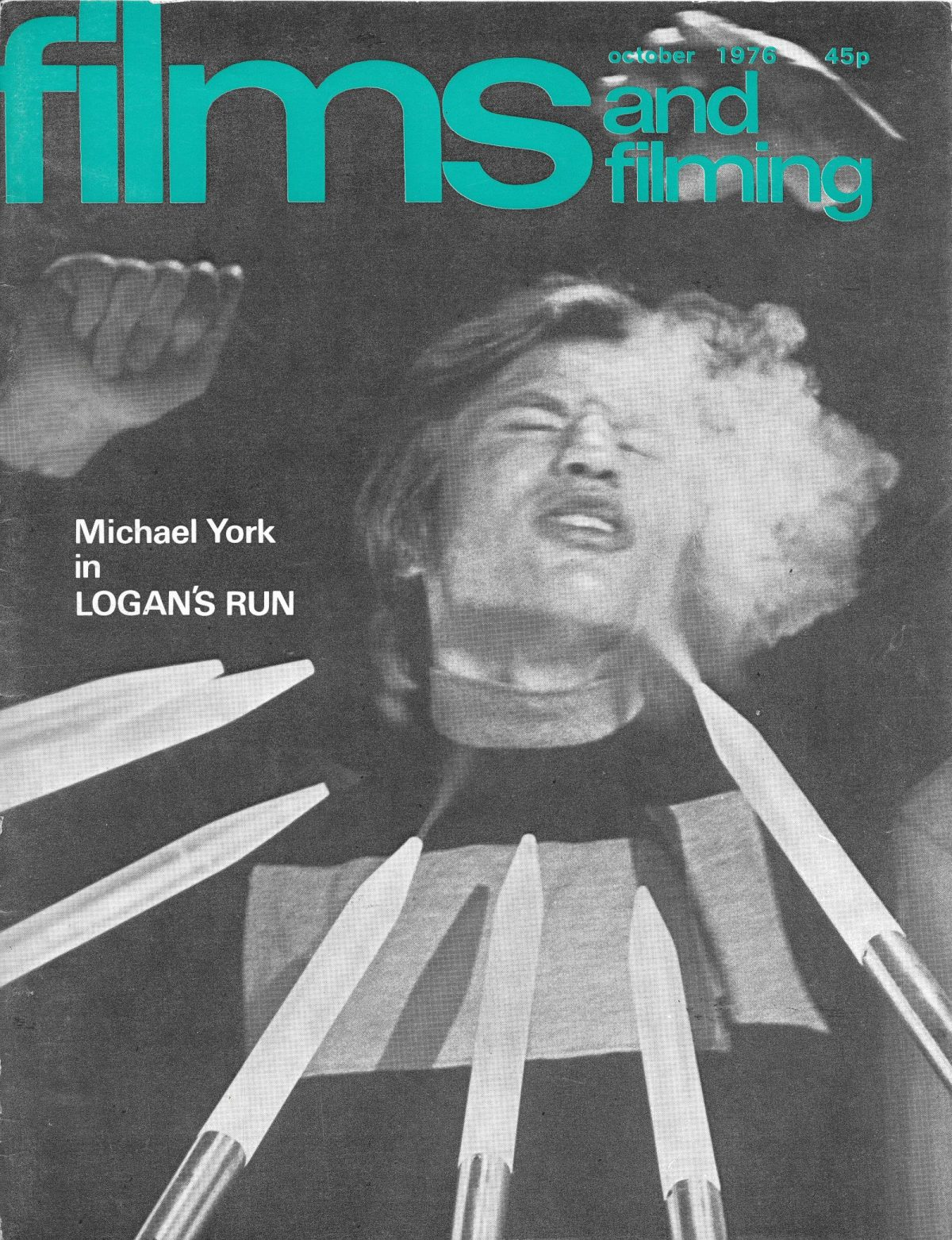 Films & Filming, film, magazines, Michael York, Logan's Run, 1970s