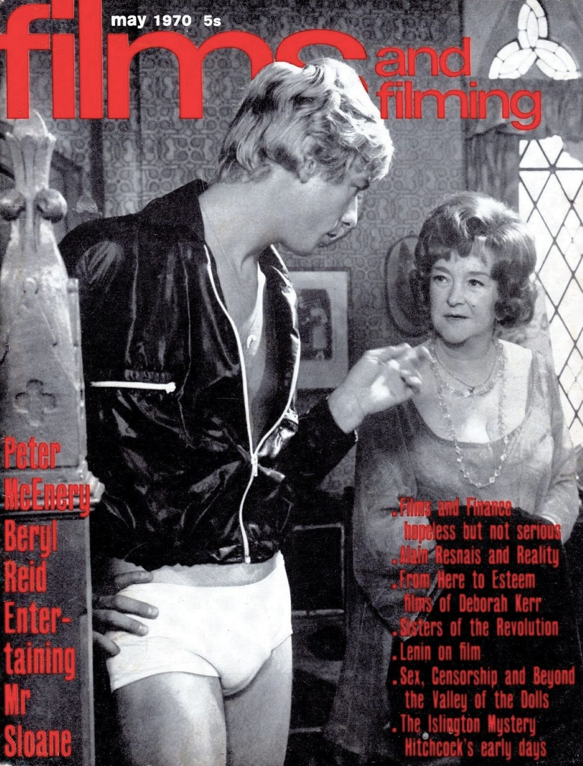 Films and Filming, magazine, film, Entertaining Mr Sloane, Joe Orton, Peter McEnry, Beryl Reid