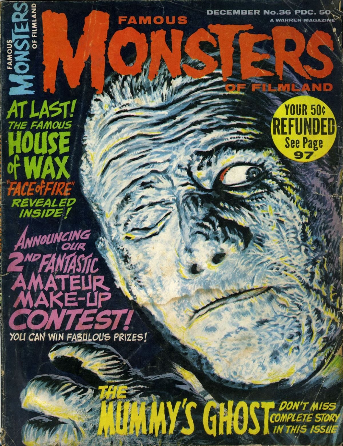 Famous Monsters of Filmland, magazine, horror films, The Mummy's Ghost, 1960s