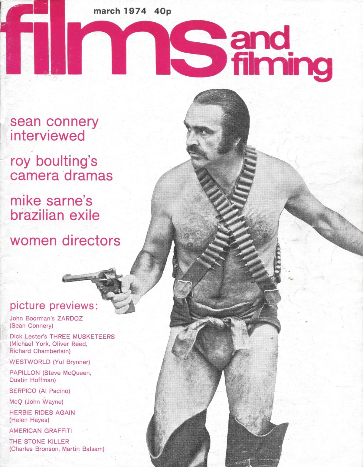 Films & Filming, film, magazines, John Boorman, Zardoz, Sean Connery, 1970s