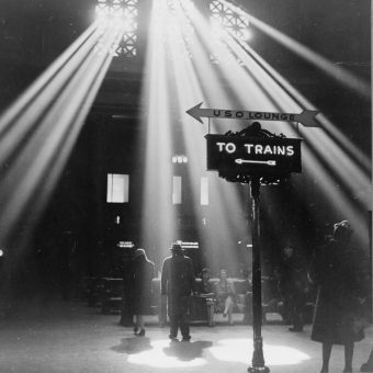 Moving People At Chicago's Union Station In January 1943 by Jack Delano
