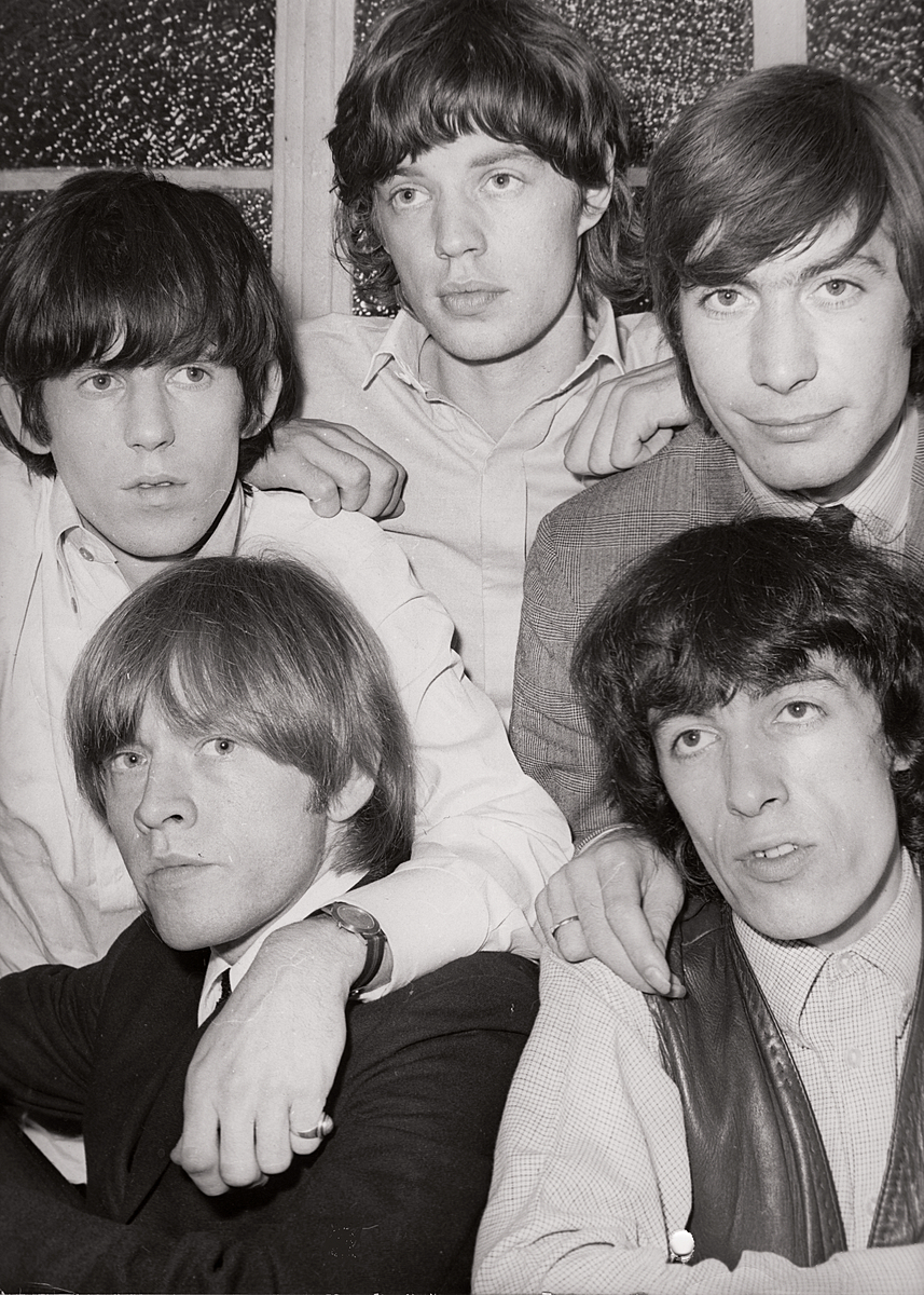 Rolling Stones backstage at The Romford Odeon in the 1960's